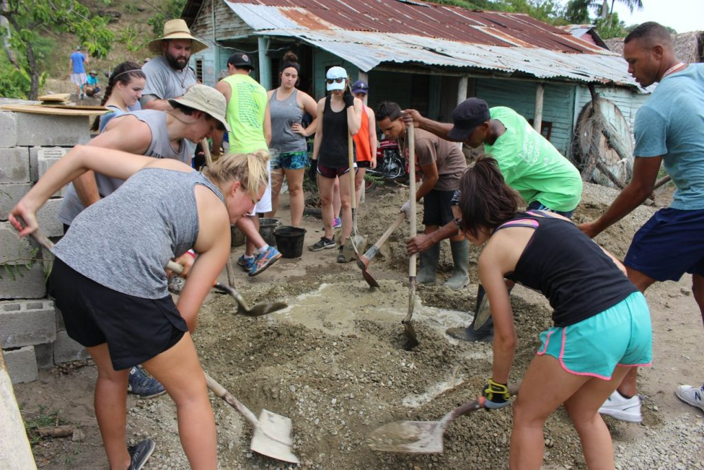The group digs to build a home