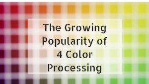 4 Color Process Printing