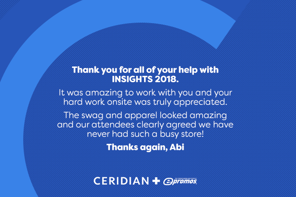 Testimonial from Ceridian to ePromos