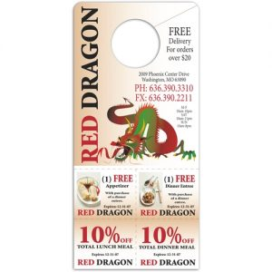 Full Color Cut Out Coupon Custom Door Hangers