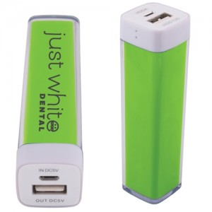 green logo power bank