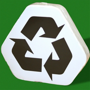 Compressed T-Shirt with Recycling Logo