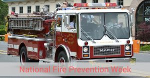 Fire truck for National Fire Prevention Week