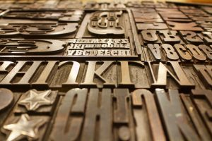 Typeface stamps for printing
