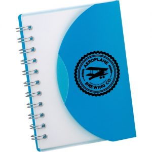 blue customizable notebook