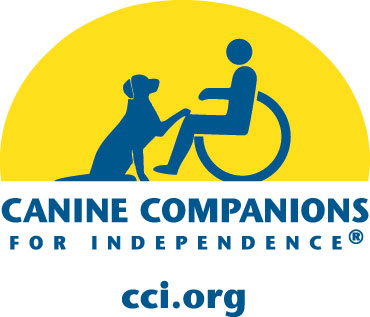 Canine Companions for Independence logo with a dog and a person in a wheelchair.