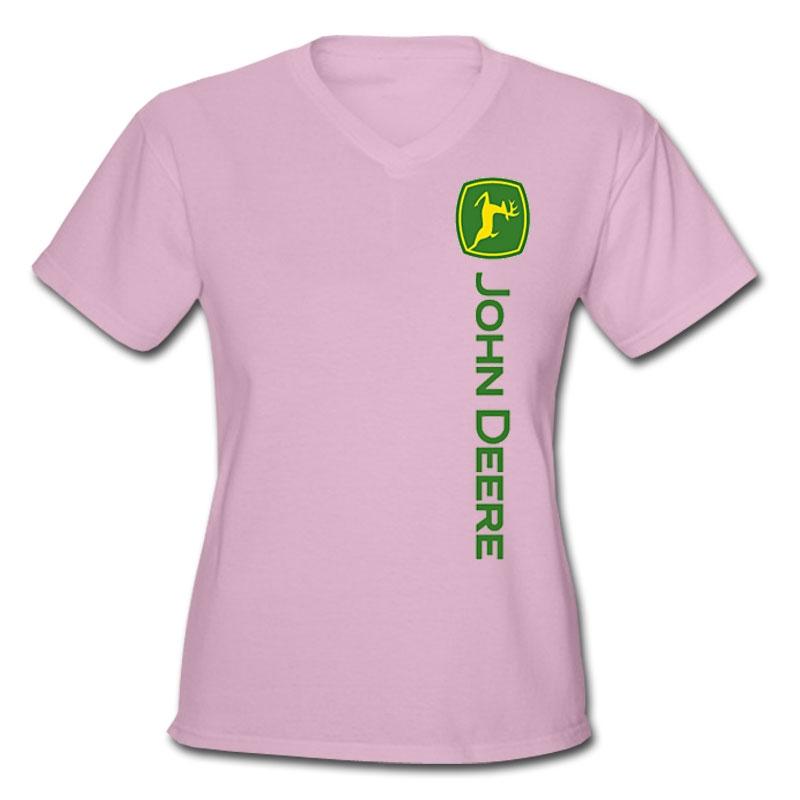 john deere off-center logo t-shirt