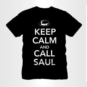keep calm and call saul loud logo t-shirt