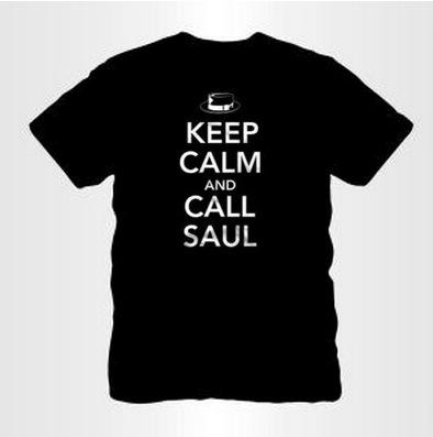 keep calm and call saul quiet logo t-shirt