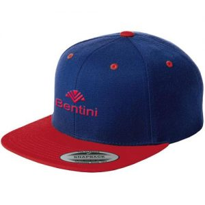 blue and red snapback hat