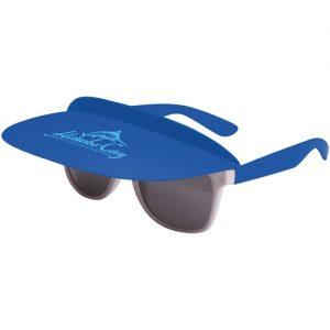 branded visor sunglasses