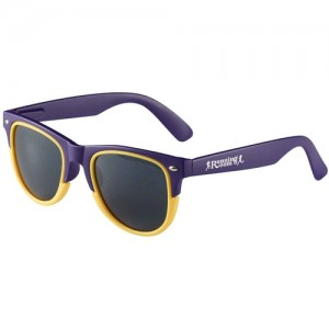 branded two tone sunglasses
