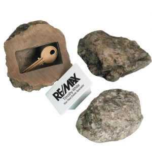 promotional key under rock