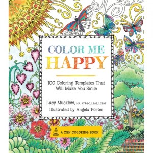 branded color me happy coloring book